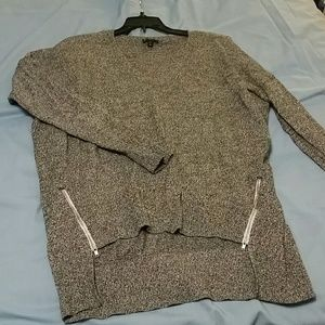 Oversized Express Sweater with Zipper Detail